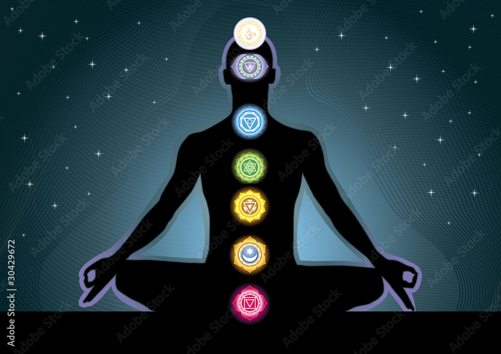 The Location Of The Chakras On The Human Body Vector Image Foto