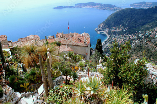 Deurstickers Nice Eze, renowned tourist site on the French Riviera