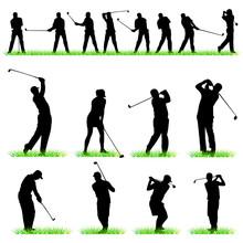 Golf Silhouettes Set