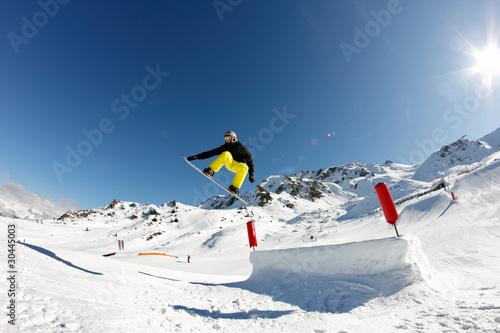 Fotografie, Obraz  figure snow rider
