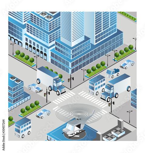 Foto op Plexiglas Op straat Town