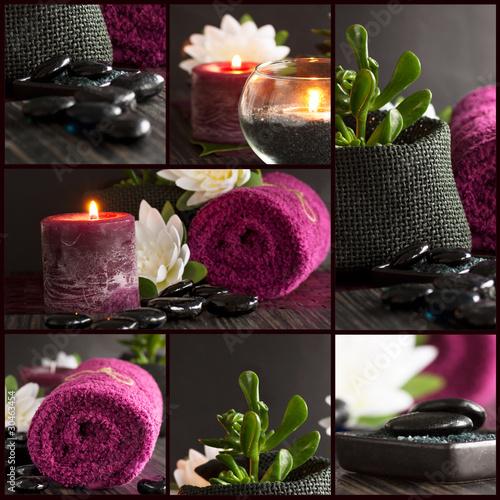 Fotografía  Spa setting collage