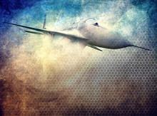 Aviation, Grunge Background, J...