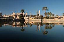 The Sacred Lake At Karnak Temple Luxor