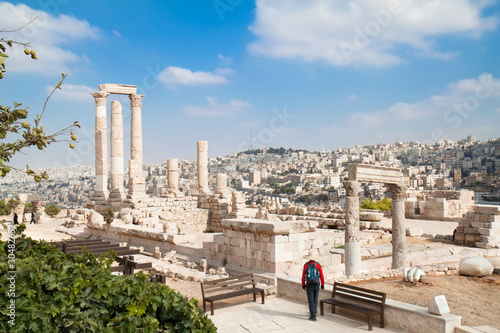 Fotografia The Temple of Hercules in the Citadel, Amman, Jordan