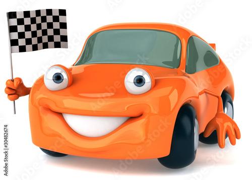 Foto op Canvas Cars Voiture