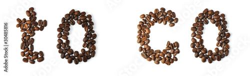 Canvas Prints Coffee beans Kaffe to go