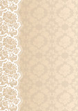 Flower background with lace