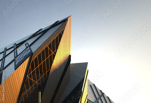 Photo Stands Stairs Modern Urban Building / Architecture