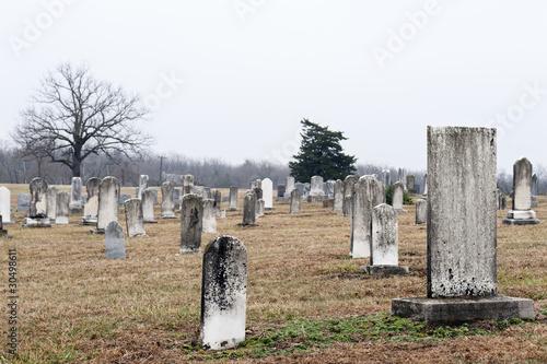 Foto op Canvas Begraafplaats Country Graveyard