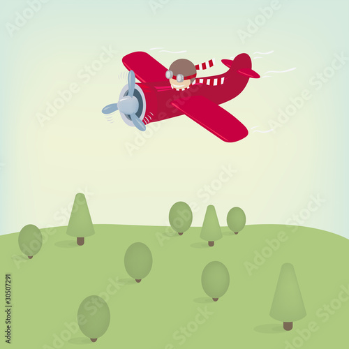 Papiers peints Avion, ballon Flying plane
