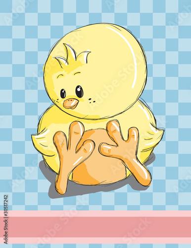 Foto-Lamellen (Lamellen ohne Schiene) - Easter greeting card - Cute chicken (von adrijanavs)