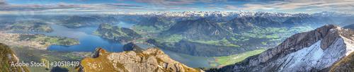 long mountain panorama of Lake Lucerne, Switzerland Poster Mural XXL