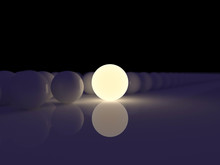 Luminescent Sphere On A Backgr...