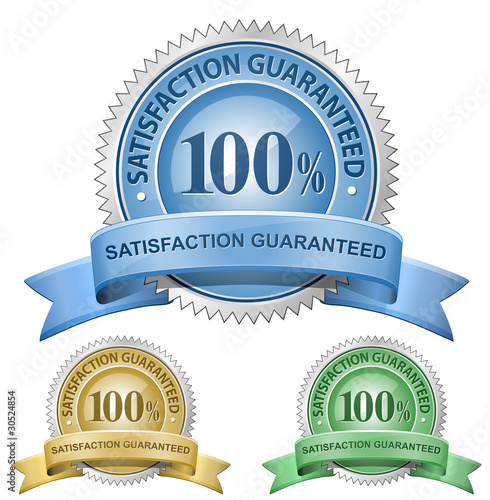 Fotografía  100% Satisfaction Guaranteed Signs