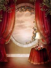 Pokój Retro Z Okrągłym Oknem