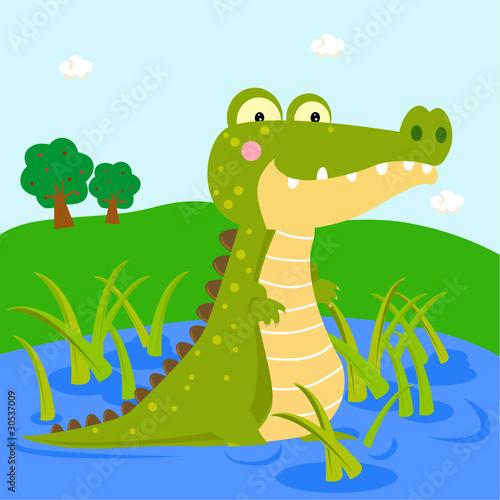 Foto-Lamellen (Lamellen ohne Schiene) - crocodile on the river (von suerz)