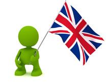 Holding The Union Jack