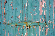 Green Peeling Paint Background