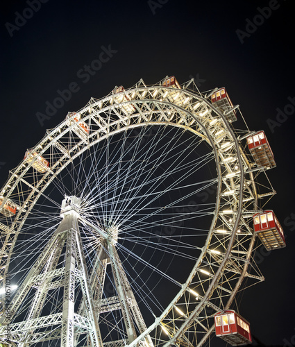 Foto op Canvas Wenen Vienna Ferris wheel at night