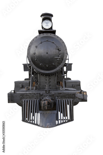 steam engine front Wallpaper Mural