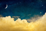 Fototapeta Na sufit - Moon and Cloudscape