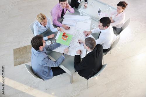 Fototapeta architect business team on meeting obraz na płótnie