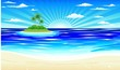 Spiaggia e Isola Tropicale-Exotic Beach and Island-Vector