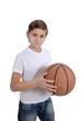 a child play basketball