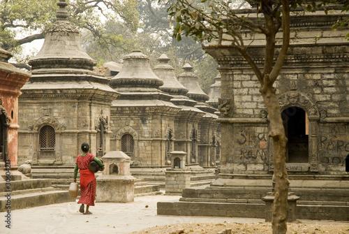 Wall Murals Nepal Stupas on hill at Pashupatinath Temple, Kathmandu ,Nepal 1 .