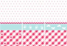 Seamless Baby Girl Pattern, Pink Wallpaper Set
