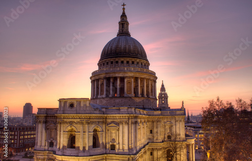St Paul's Cathedral at dusk Canvas Print
