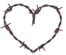 Rusty Barbed Wire Heart