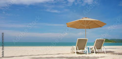 Billede på lærred sand beach view