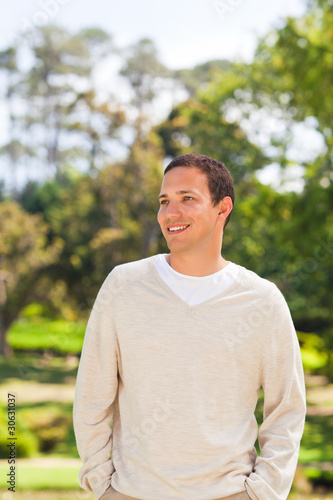 Fototapety, obrazy: Handsome man in the park