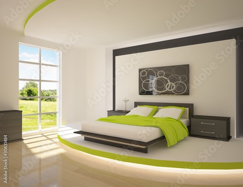 Photo  green bedroom