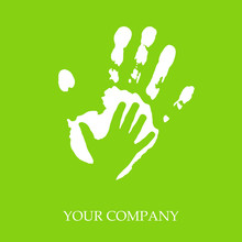 Logo Imprint And Child's Hand  # Vector