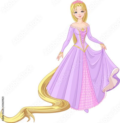 Printed kitchen splashbacks Fairytale World Beautiful princess Rapunzel