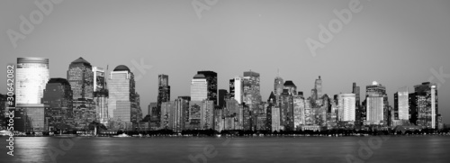 Fototapeta Manhattan Financial District from Jersey city