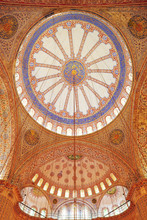 The Domed Interior Of The Blue...