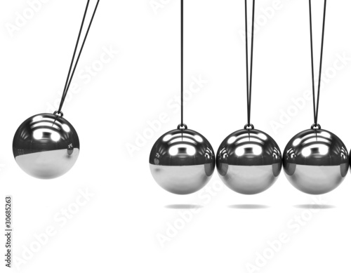 Newtons cradle Canvas Print