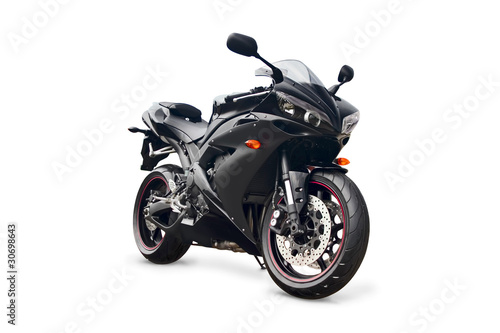 Fotomural black sport bike