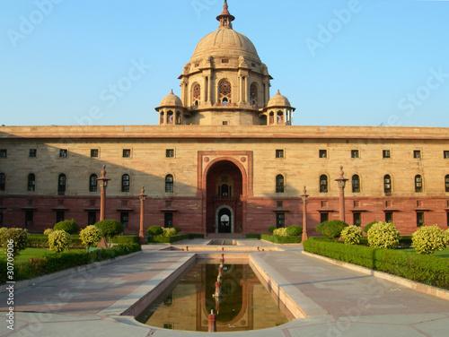 Indian Parliament building in New Delhi, India
