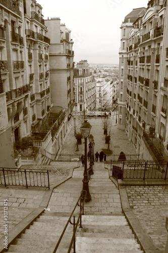 Escalier de Montmartre, Paris, France
