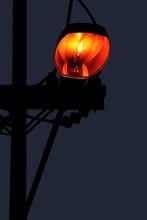 Orange Street Light Lamp In Ni...