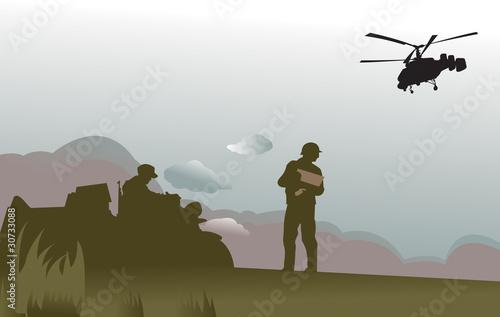 Deurstickers Militair battlefield