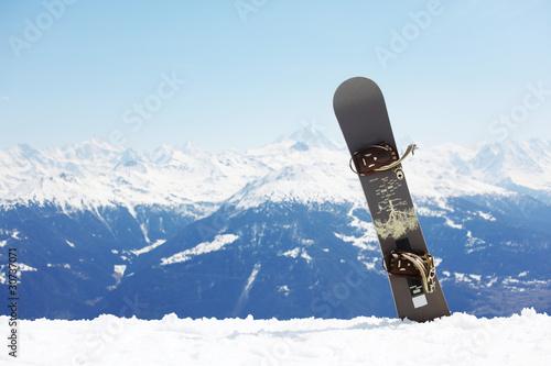 Fotografie, Obraz  snowboard on mountains