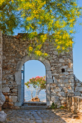 Fototapeta Gate in Palamidi fortress, Nafplio, Greece