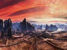 Ruins Of Alien Landing Site At...