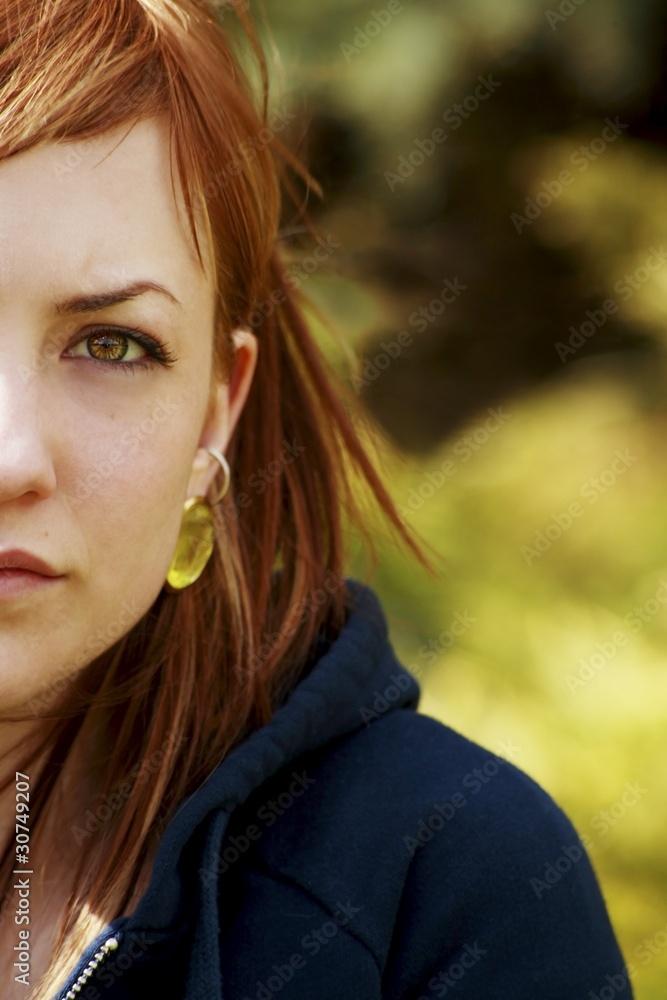 Valokuva A Woman Looking At The Camera